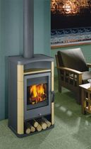 contemporary wood-burning boiler stove SORBAS ROMOTOP