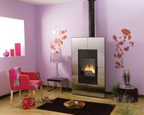 contemporary wood-burning stove DUISANS CHEMINEES PHILIPPE