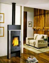 contemporary wood-burning stove ERLEN CHEMINEES PHILIPPE