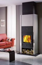 contemporary wood-burning stove AETINGEN CHEMINEES PHILIPPE
