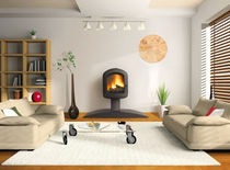 contemporary wood-burning stove ALETTE CHEMINEES PHILIPPE