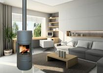 contemporary wood-burning stove 420 FLAM N' CO