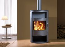 contemporary wood-burning stove SCORPIO Wanders