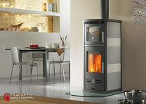 contemporary wood-burning stove PRIMAVERA MOD. 19220 Caminetti Montegrappa