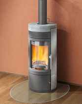 contemporary wood-burning stove TWIST Rika