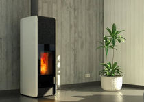 contemporary wood-burning stove T-NEO ECO2 by Wolfram Tonwerk Lausen AG