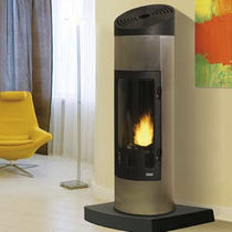contemporary wood-burning stove BEUGIN  GODIN