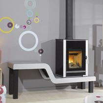 contemporary wood-burning stove KELUT GODIN