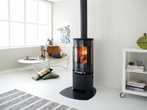 contemporary wood-burning stove F 374 by Hareide Designmill Jøtul