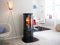 contemporary wood-burning stove F 375 by Hareide Designmill Jøtul