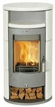 contemporary wood-burning stove (ceramic) ALICANTE KERAMIK Fireplace