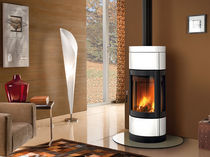 contemporary wood-burning stove (ceramic) FORTUNA PANORAMA Nordica