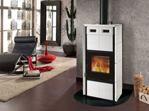 contemporary wood-burning stove (ceramic) CLEO COMBI FLY Nordica
