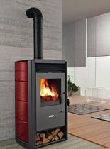 contemporary wood-burning stove (ceramic) VENERE cadel