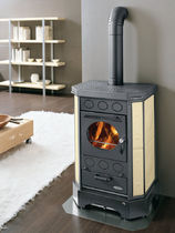 contemporary wood-burning stove (ceramic) AIRY PENTA cadel