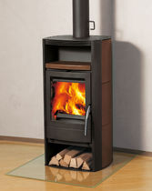 contemporary wood-burning stove (ceramic) MEXX Rika