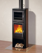 contemporary wood-burning stove (ceramic) X-BACK Rika
