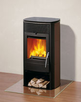 contemporary wood-burning stove (ceramic) X-COOK Rika