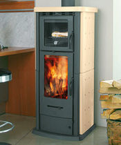 contemporary wood-burning stove (ceramic, with oven) 860 PU  THERMOROSSI