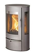 contemporary wood-burning stove (glass) LOTUS LIVA 1 Broseley Fires