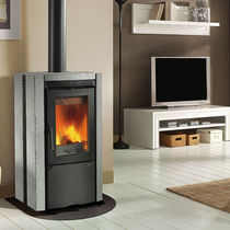 contemporary wood-burning stove (natural stone) ESTER Nordica
