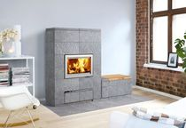 contemporary wood-burning stove (soapstone) VALKIA+PM001 TULIKIVI