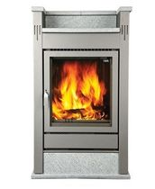 contemporary wood-burning stove (soapstone) PALAZZO MT 57/75-121 Flam