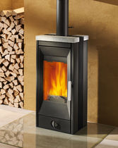 contemporary wood-burning stove (soapstone) VITRA Rika