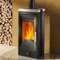 contemporary wood-burning stove (soapstone) VITRA PASSIVE HOUSE Rika