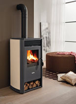 contemporary wood-burning stove (steel) DREAM cadel