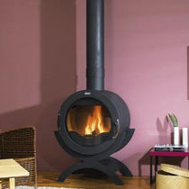 contemporary wood-burning stove (steel) GENES  GODIN