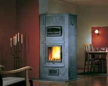 contemporary wood-burning stove (with oven) LYDIA SOLO 3 NunnaUuni
