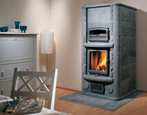 contemporary wood-burning stove (with oven) MARKETTA SOLO 1 NunnaUuni