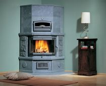 contemporary wood-burning stove (with oven) VANESSA SOLO 2 NunnaUuni