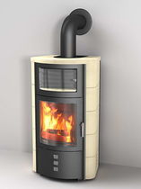 contemporary wood-burning stove (with warmer) HARK 17 WWGT ECOPLUS Hark GmbH & Co. KG