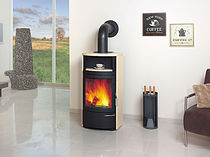 contemporary wood-burning stove (with warmer) HARK 17 FGT Hark GmbH & Co. KG