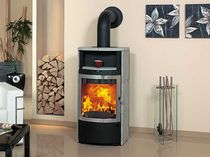 contemporary wood-burning stove (with warmer) HARK 17 FGT ECOPLUS Hark GmbH & Co. KG