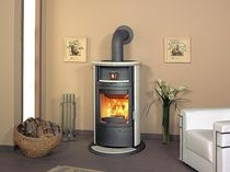 contemporary wood-burning stove (with warmer) HARK 17 NGT ECOPLUS Hark GmbH & Co. KG