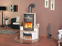 contemporary wood-burning stove (with warmer) HARK 34 GT ECOPLUS Hark GmbH & Co. KG
