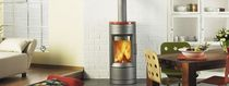 contemporary wood-burning stove BARI hase