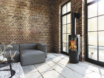 contemporary wood-burning stove DELHI hase