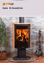 contemporary wood-burning stove D6 SOLO CERAMIC Color Emajl Doo