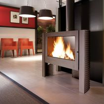 contemporary wood-burning stove ITAYA by B. Dequet INVICTA