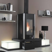 contemporary wood-burning stove BELCANTO 1  GODIN