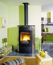 contemporary wood-burning stove (cast iron and steel) NAPOLI  GODIN