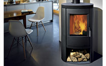 contemporary wood-burning stove (cast iron and steel) WODTKE: JAMI FONDIS