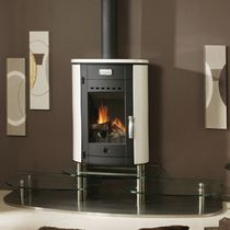 contemporary wood-burning stove (ceramic) EREBUS GODIN
