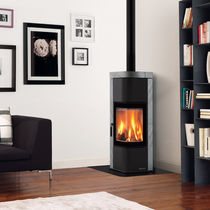 contemporary wood-burning stove (natural stone) ZEN Nordica