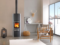contemporary wood-burning stove (soapstone) 58-9 HIGH TOP / 58-10 HIGH TOP SCAN