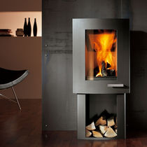 contemporary wood-burning stove (steel) IVO SKANTHERM